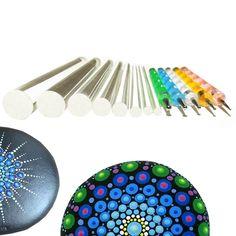 Mandala Dotting Tools Set For Painting RocksPainting Rocks Dot Kit Rock Stone Dot Nail Art, Nail Art Pen, Nail Polish Art, Nail Art Brushes, Dot Art Painting, Stencil Painting, Stone Painting, Kit, Rock Painting Supplies