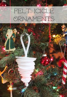 Felt Icicle #Ornaments makeandtakes.com #holiday #Christmas #MichaelsStores