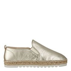 Gold Metallic Noney Espadrille Slip On Sneakers | Nine West