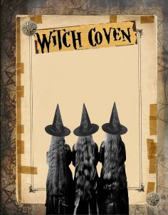 Witch Coven page by Grim, scrapbook, art journal, Book of Shadows