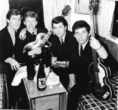 The Searchers Big Beat Night, The Seafront at Seaton Carew, England.note the bottle of Cameron's Strongarm a famous local brew Rock And Roll Bands, Rock Bands, The Searchers Band, Gerry And The Pacemakers, Ian Wright, The Dave Clark Five, Pop Rock, British Rock, British Invasion