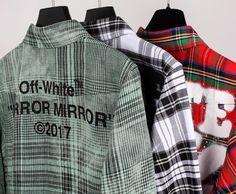 Off-White plaid shirts for men