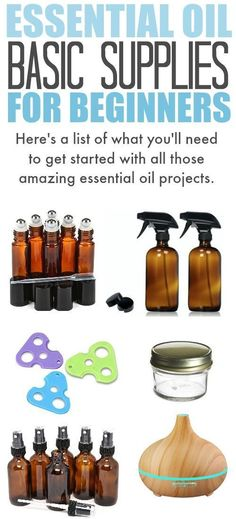 All the essential oil basic supplies you'll need to get started with all of those amazing essential oil recipes you've been wanting to try! #EssentialOils #eo #EssentialOilAccessories