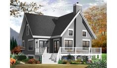 large a frame house plans small affordable chalet home plan 3 bedroom a frame cottage with mezzanine and large large a frame dog house plans A Frame Cabin, A Frame House, Lake House Plans, Small House Plans, Small Cottage Plans, Plan Chalet, Drummond House Plans, Lakefront Homes, New Home Builders