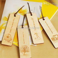 Wholesale Bookmarks Gift - Buy Paper Zakka Fresh Logs of Wood Bookmark Wool Bookmarks 4 Gift, $3.35 | DHgate