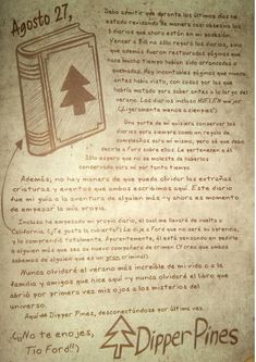 Read 118 from the story Diario 3 Gravity Falls by (Ale) with 278 reads. Libro Gravity Falls, Gravity Falls Dipper, Edna Mode, Book Journal, The Fool, Anime, Ford, Reading, Disney