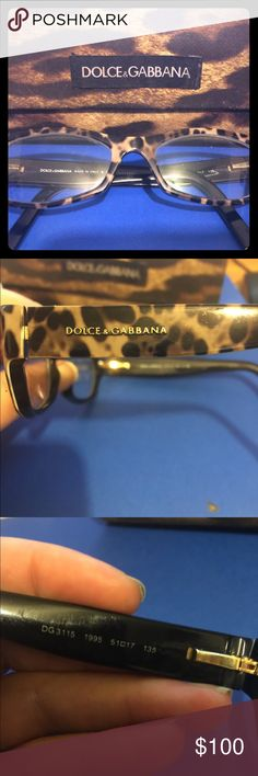 Authentic Dolce & Gabbana Frames Style DG3115 Leopard Frames. Perfect condition. Comes with D&G matching case. Has my prescription lenses in them but can easily be switched to yours. Dolce & Gabbana Accessories Glasses