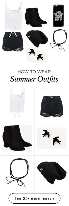 """Violet's Outfit for Summer"" by mint-bowtie on Polyvore featuring Topshop, Billini, Splendid and Casetify"