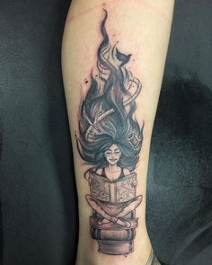 Awe-inspiring Book Tattoos for Literature Lovers - book tattoo ideas © United Tattoo You are in the right place about Awe-inspiring Book Tattoos for L - Writer Tattoo, Book Tattoo, Hp Tattoo, Tattoo Flash, Bookish Tattoos, Literary Tattoos, Time Tattoos, Sleeve Tattoos, New Tattoos