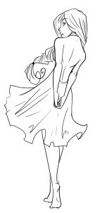 how to draw female figures, draw female bodies step 21