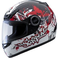Scorpion EXO-400 Urban Destroyer in red. I love this helmet and have it in black/grey
