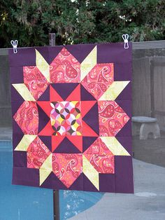 ( Swoon Quilt ) blocks... different color and make a barn quilt block