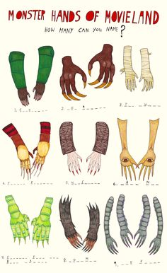 Can you recognize these monster hands?