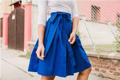 Zavinovací sukně Královsky modrá   Zboží prodejce Reparáda dd43979365