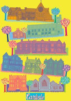 Carlisle map by Yvette Earl