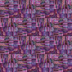 digital quilt, from scans of fabric scrap collages