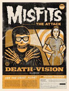 Misfits Xray Poster - Clark Orr