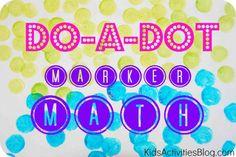 Do-A-Dot-Marker-Math: simple addition