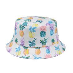 Unisex Hawaiian Bucket Hat Multti-color Pineapples Fruit Fishing Outdoor Sun Cap #Goldtop #Bucket #Daily Pineapple Fruit, Sun Cap, Gold Top, Hawaiian, Bucket Hat, Fishing, Unisex, Hats, Outdoor