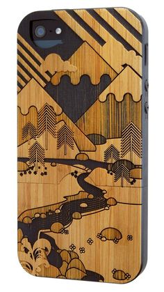 Twig Case's 'It's Only Mountains' bamboo case for the iPhone 5