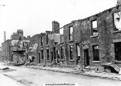 Brittain Street, off Shoreham Street showing air raid damage