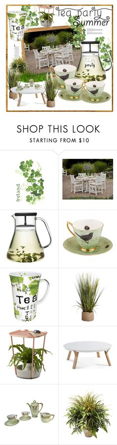"""""""TEA PARTY"""" by ferreirabruna ❤ liked on Polyvore featuring interior, interiors, interior design, home, home decor, interior decorating, Ulster Weavers, Melody Rose, Könitz and Pier 1 Imports"""