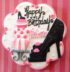 Girly Birthday Cookies.                  www.facebook.com/sugarbyjulie