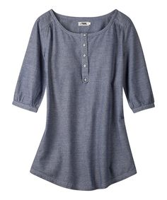 Take a look at this Blue Work Chambray Oxbow Tunic - Women on zulily today!