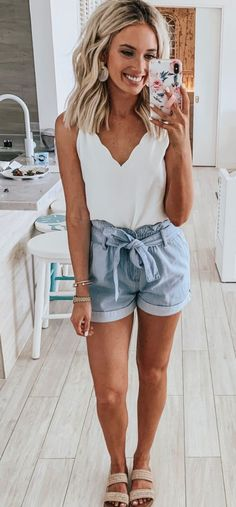 Sweet dresses, tops, shoes, jewelry & clothing for women, # for Over 100 cute and trendy outfit ideas for summer # for ideas 25 Impressive summer outfits Ideas to copy as soon as possible summer outfits summer fashion spring outfits 58 Casual … Casual Outfits For Teens, Cute Summer Outfits, Spring Outfits, Teen Outfits, Summer Clothes, Fall Clothes, Stylish Outfits, Looks Chic, Looks Style
