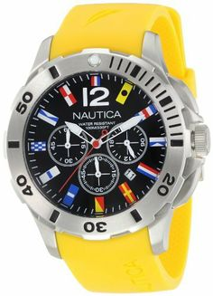 Nautica Men's N18637G Bfd 101 Dive Style Chrono Flag Watch NAUTICA. $147.99. Durable mineral crystal protects watch from scratches; Stainless steel case; Water resistant to 330 feet; 44mm; Quartz movement