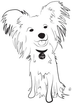 Papillon -- Charity Pups raises awareness and dollars for a different animal-related non-profit each month through dog illustrations. www.charitypups.com #dog #illustration #cute #adorable #puppy #papillon