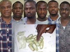 Laurry Jones : Faces of the six men arrested for swallowing $156,000 in Lagos