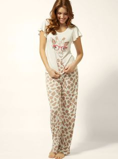 Sunglasses Giraffe Pyjamas from Boux Avenue - Perfect for tackling the hangover the next morning! Pajamas All Day, Cute Pajamas, Giraffe Costume, Boux Avenue, Comfortable Outfits, Go Shopping, Pyjamas, Nightwear, Pajama Set