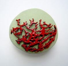Peach pin by Karen Moon