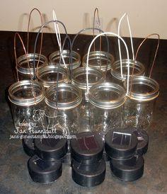 DIY Mason Jar Solar Lights. Outdoor ...