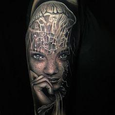 Best Cover Up Tattoos, Best Tattoos For Women, Cool Tattoos For Guys, Cool Small Tattoos, Usa Tattoo, Biomechanical Tattoo, Arm Sleeve Tattoos, Calf Tattoo, Inked Magazine