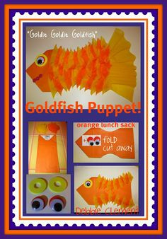 SONG BY DEBBIE CLEMENT: 6 verse, 'zipper' song, where only one word changes per verse..... you zip out that one word (swims) and zip in the new word for Verse 2. Simple lyrics for a simple tune, Goldie, Goldie Goldfish.