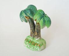 Vintage Palm Trees Salt & Pepper Shakers