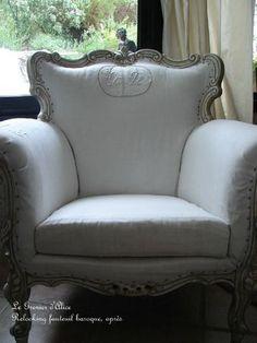 Un salon baroque qui prend un coup de shabby ... - Le Grenier d'Alice, le blog, les nouveautés