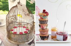 tea party - love the bird cage ornamentation