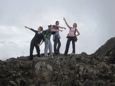 Nearing the top of Snowdon, Wales, UK... Wearing my beloved boots back in the day by Hayley Dargue Jones