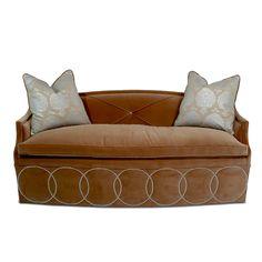 Modern Velvet Sofa - Hollywood Regency - Haute House Home
