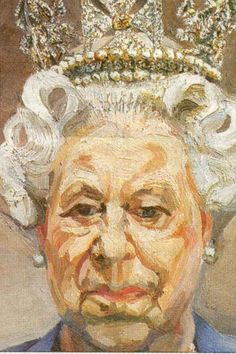 "Lucian Freud - Queen Elizabeth II, Oil on canvas "" The artist wrote to Buckingham Palace asking H. Queen Elizabeth II to attend numerous modeling sessions, a request which she, most unusually,. Lucian Freud Portraits, Lucian Freud Paintings, Elizabeth Ii, Figure Painting, Painting & Drawing, L'art Du Portrait, Edward Hopper, David Hockney, Sigmund Freud"