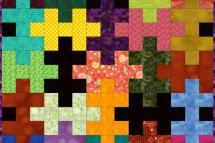 Easy Quilt Patters: Jigsaw Puzzle Quilt - Janet Wickell