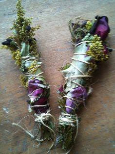 WEDDING/HANDFASTING smudge stick with herbs, flowers and oils custom blended for ceremony ritual on Etsy, $6.74 CAD