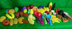 Lot of Pretend Plastic Play Food Vegetables Chips Fruit   eBay
