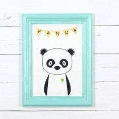 Retro poster - panda