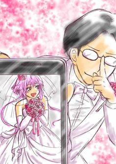 ANSATSU KYOUSHITSU/ASSASSINATION CLASSROOM, Fan Art, Takebayashi Kotaro, Ritsu (Jiritsu shikou kotei houdai), AI Computer, Wedding Suit