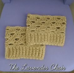 Stacked Shells Boot Cuff Pattern, free crochet pattern by The Lavender Chair