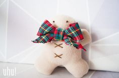 Pluszowe pierniczki świąteczne w uhu! handmade na DaWanda.com